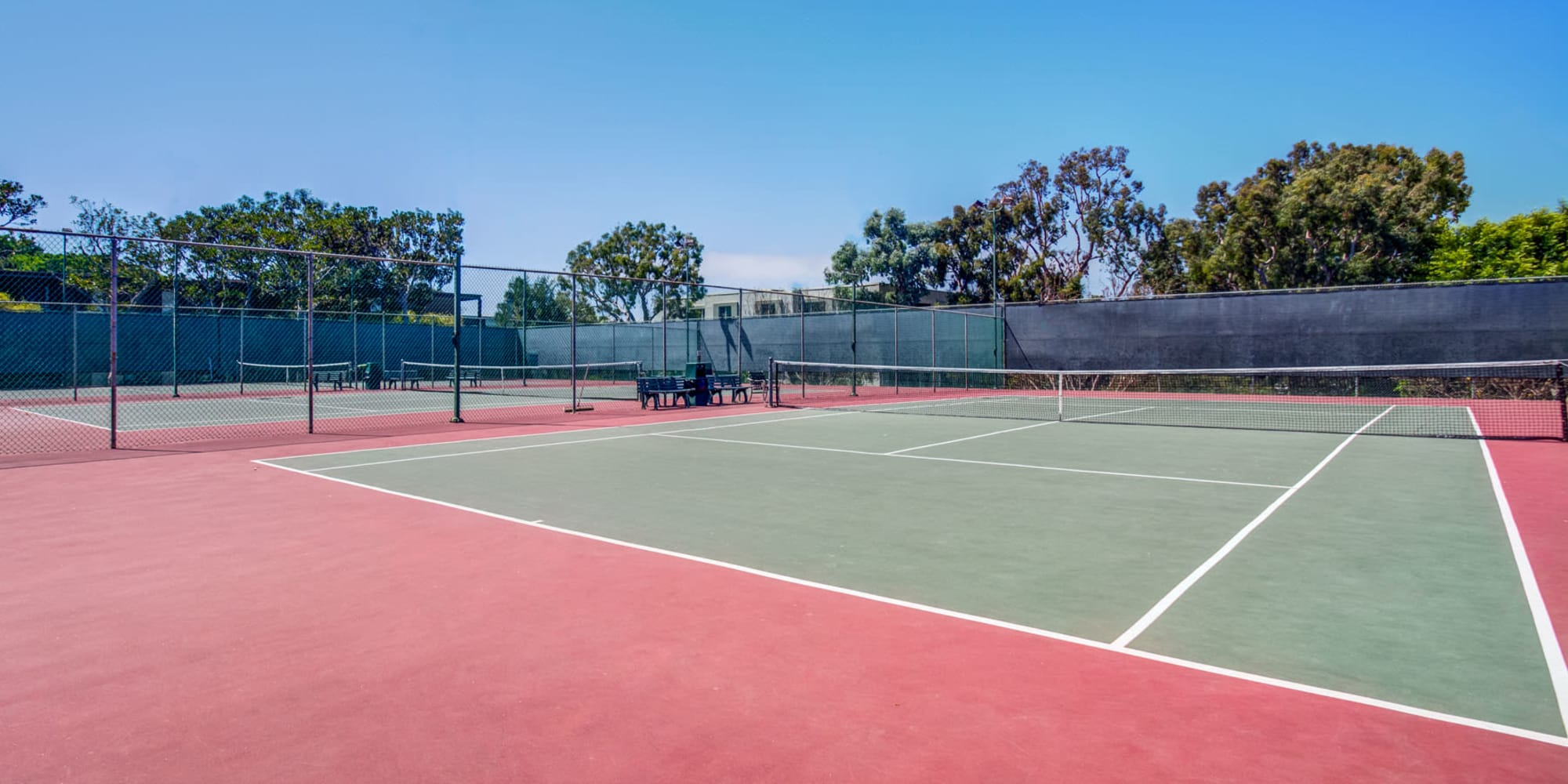 Onsite tennis courts at Mariners Village in Marina del Rey, California