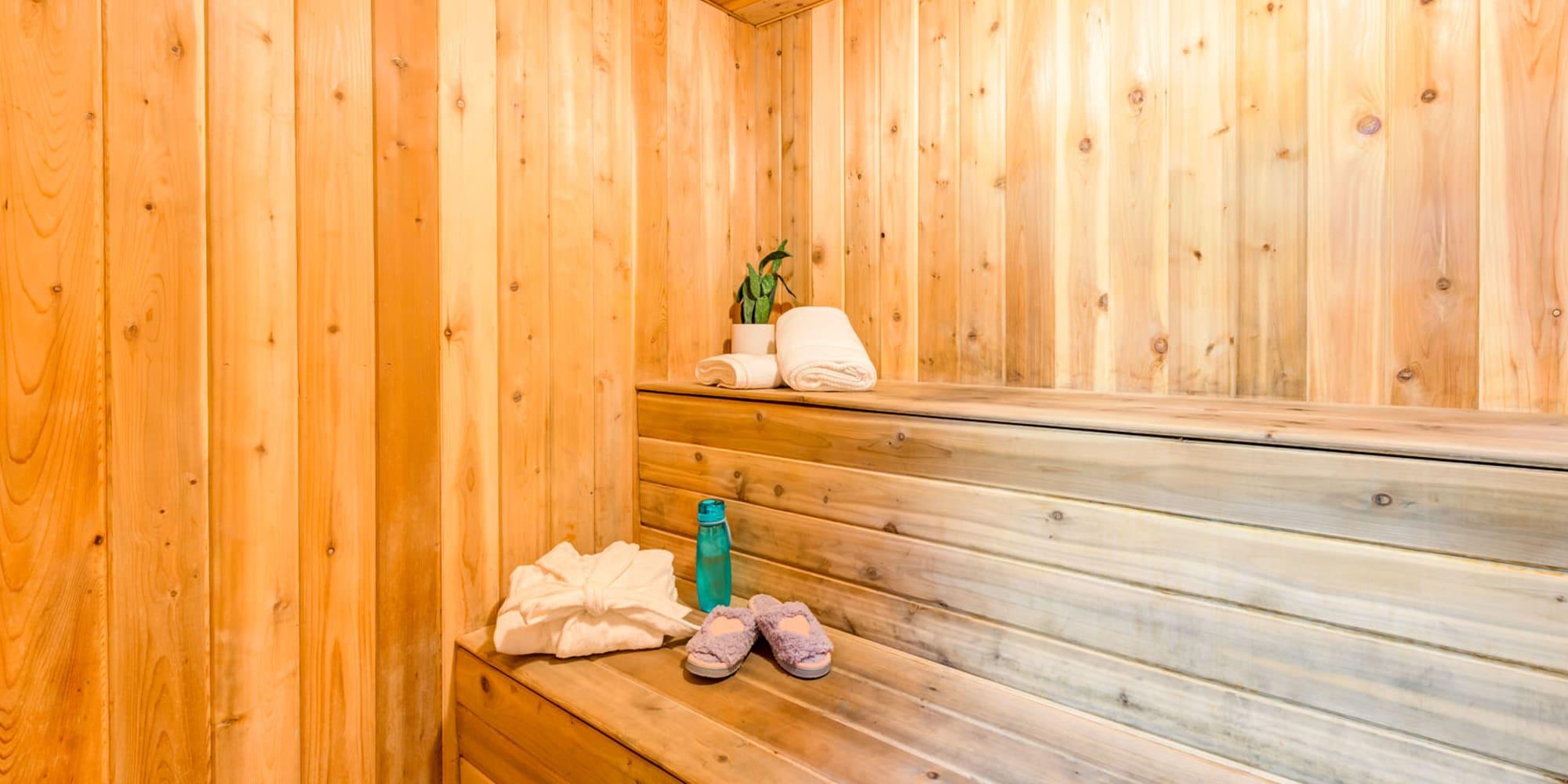Dry sauna at Valley Plaza Villages in Pleasanton, California