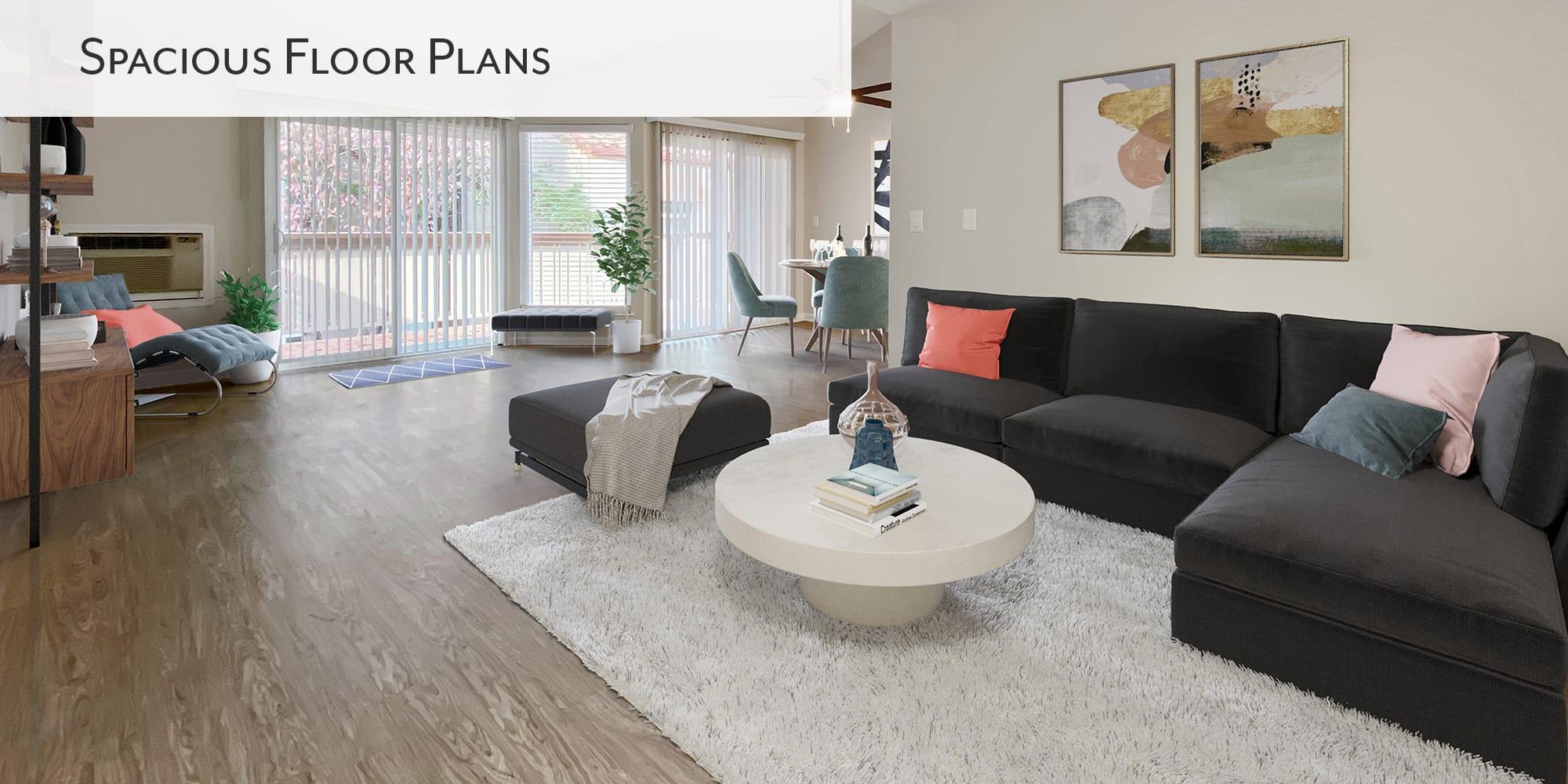 Spacious floor plans at Valley Plaza Villages in Pleasanton, California