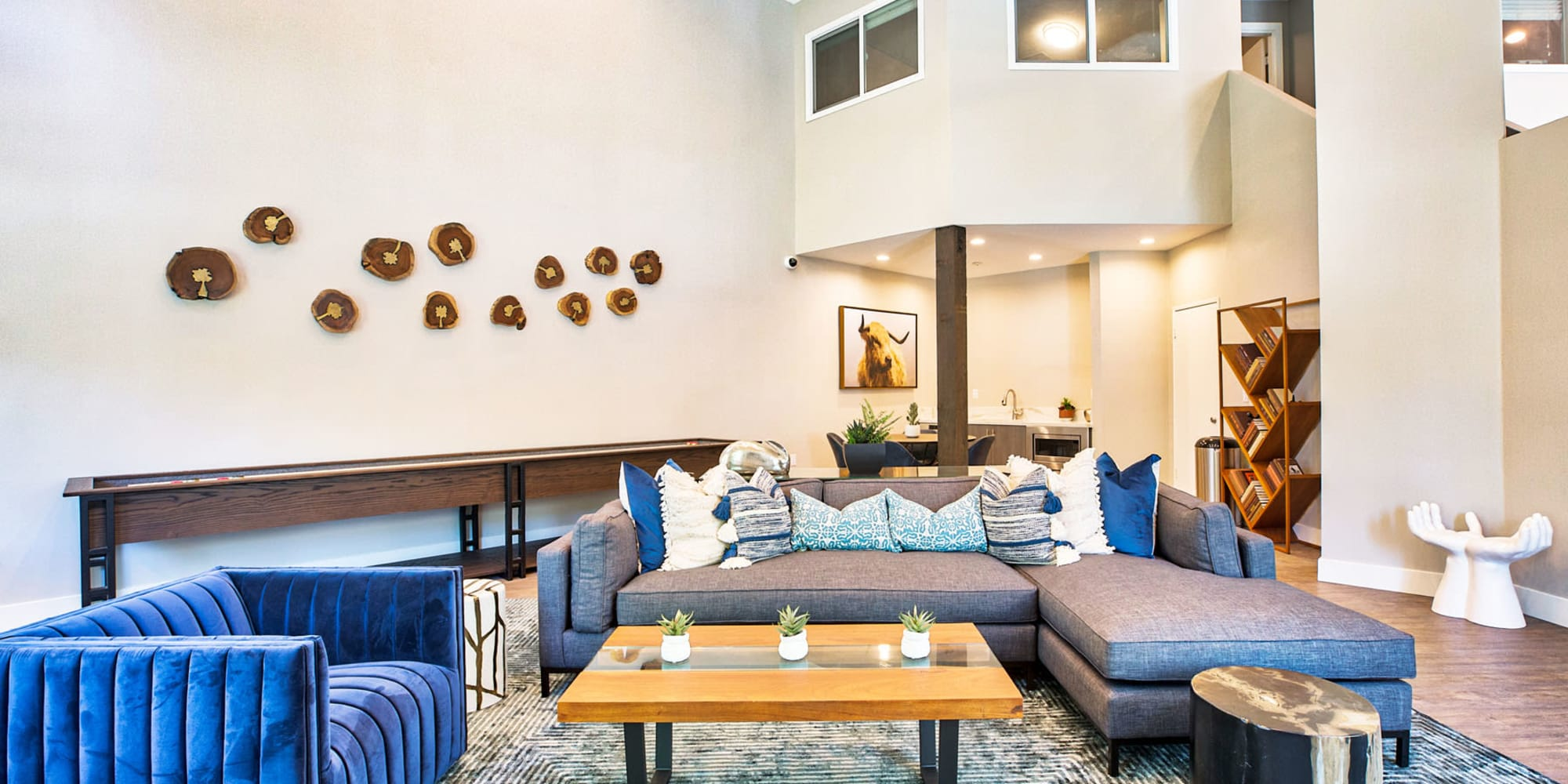 Resident clubroom lounge at Mountain Vista in Victorville, California