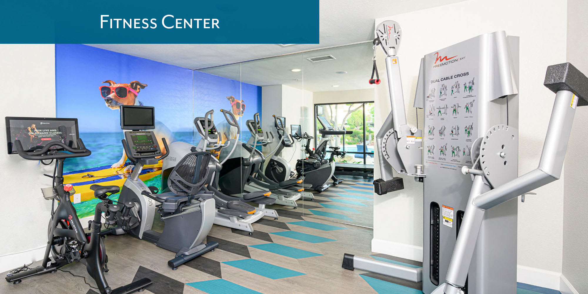 Fitness center at Sendero Huntington Beach in Huntington Beach, California