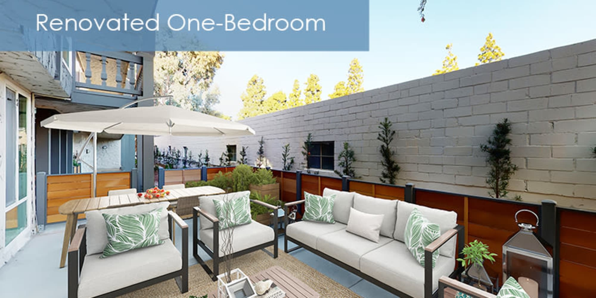 patio at The Meadows in Culver City, California