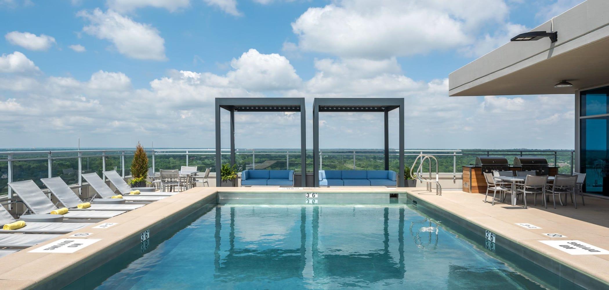 Swimming pool at Two Twelve Clayton in Clayton, Missouri