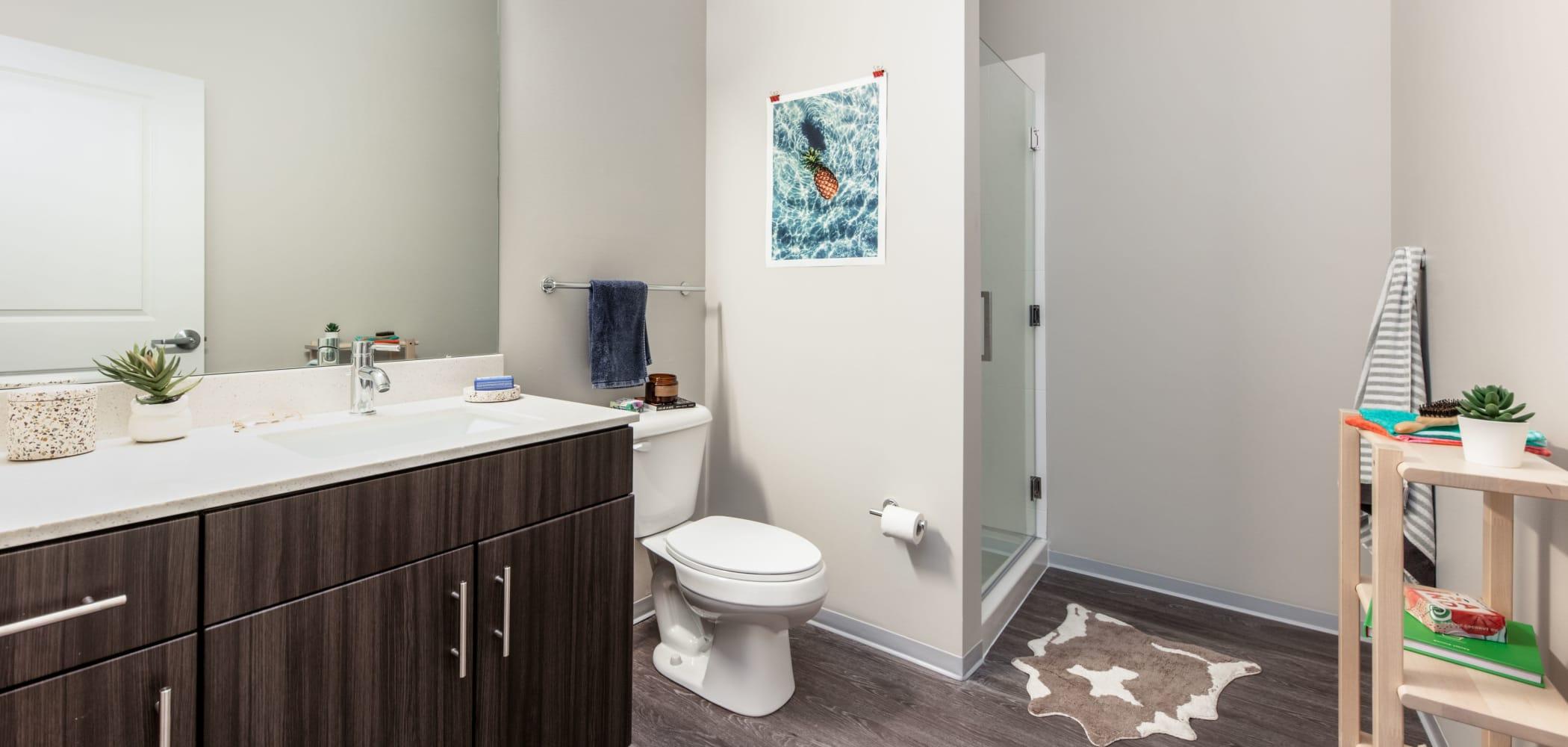 Clean bathroom at UNCOMMON Columbus in Columbus, Ohio