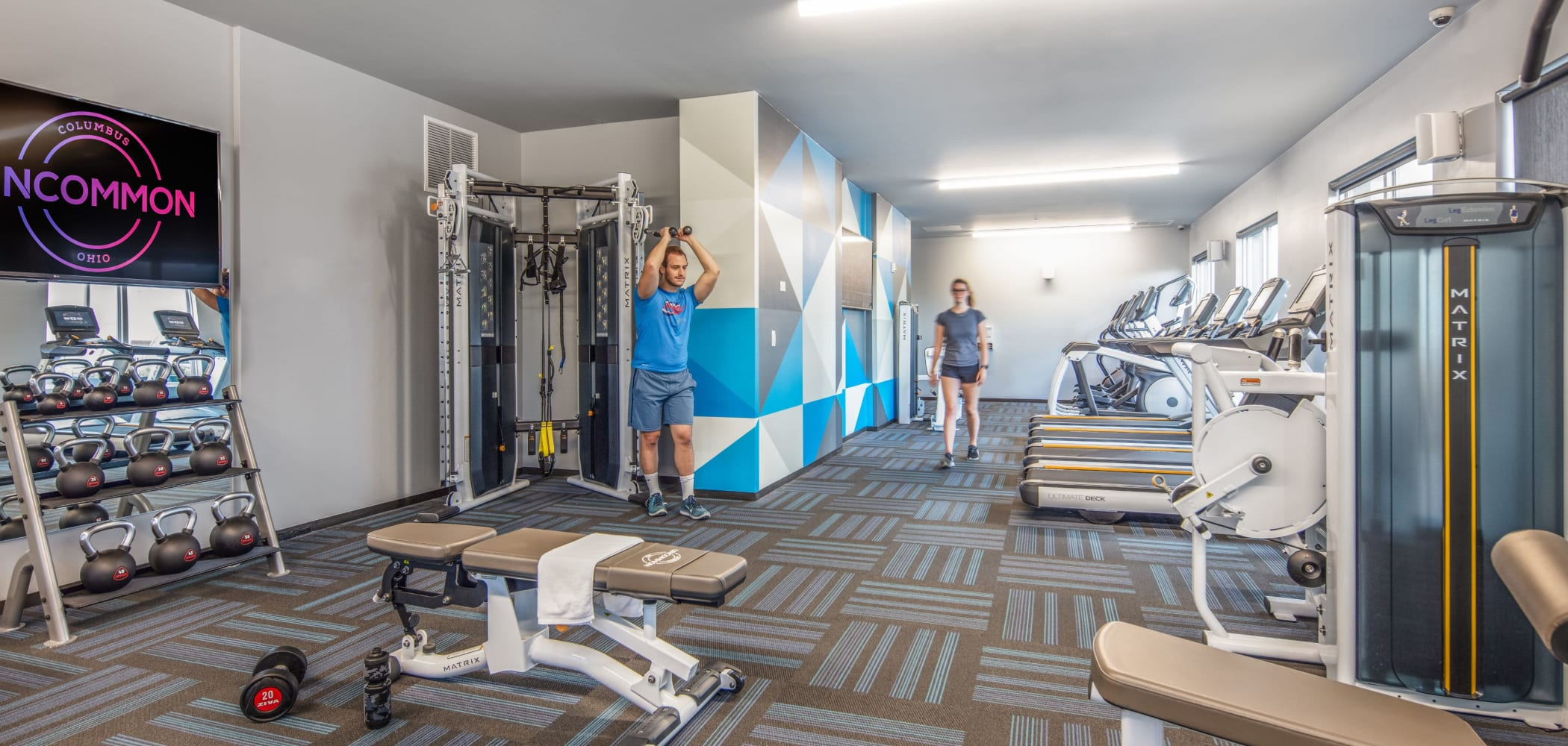 Fitness center at UNCOMMON Columbus in Columbus, Ohio