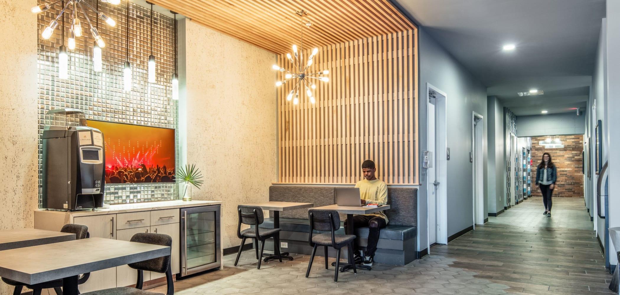 Cafe area at UNCOMMON Columbus in Columbus, Ohio
