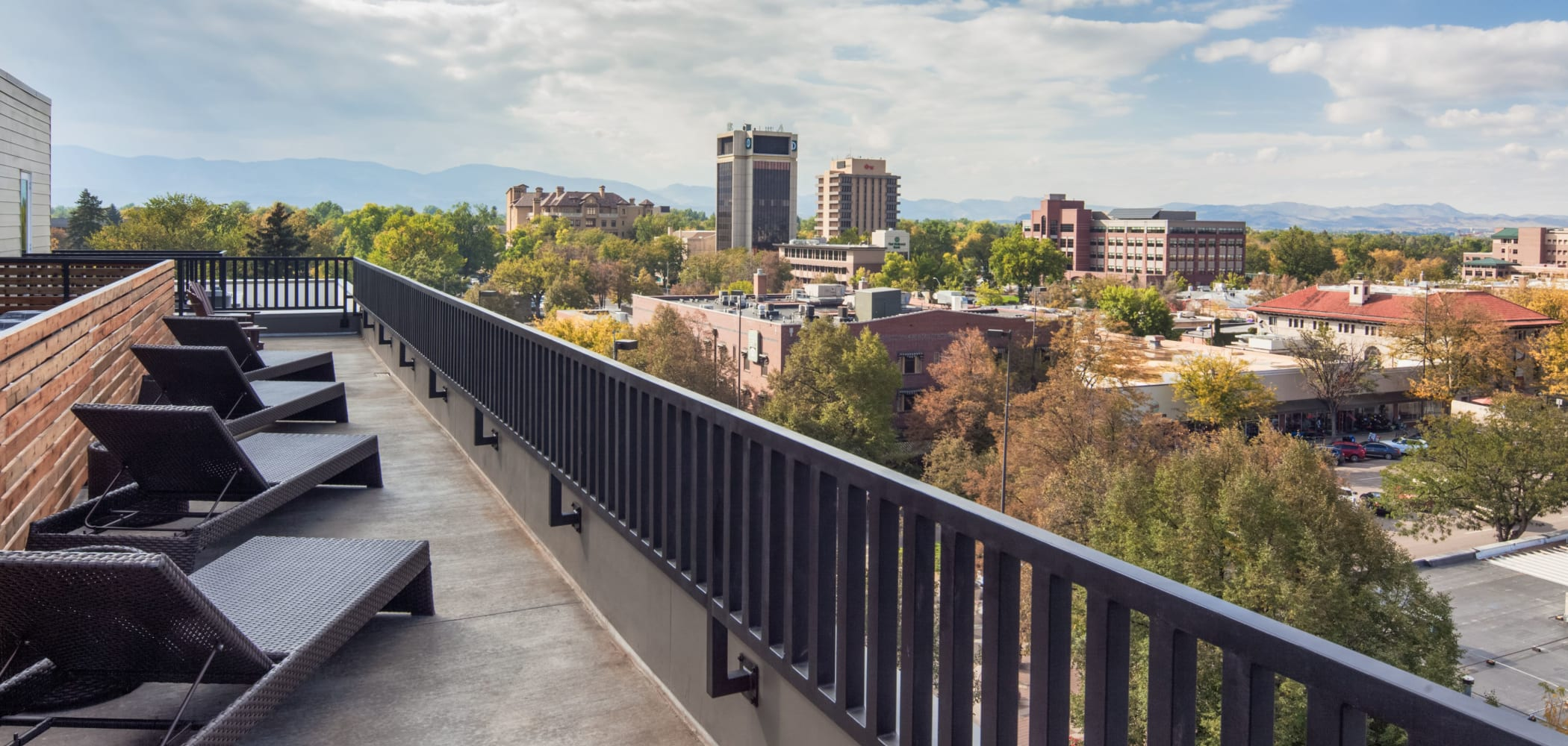 Balcony with a view at UNCOMMON Fort Collins in Fort Collins, Colorado