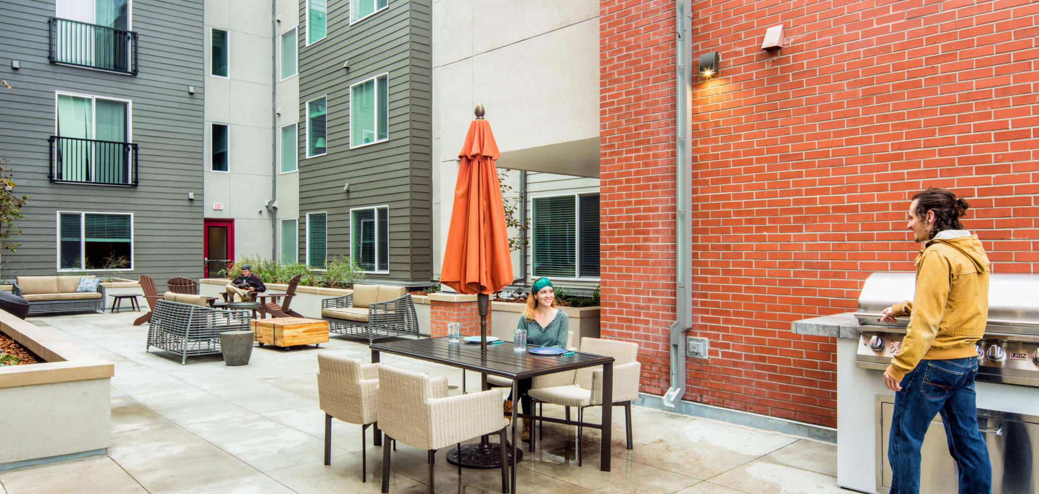 Outdoor patio area at UNCOMMON Fort Collins in Fort Collins, Colorado