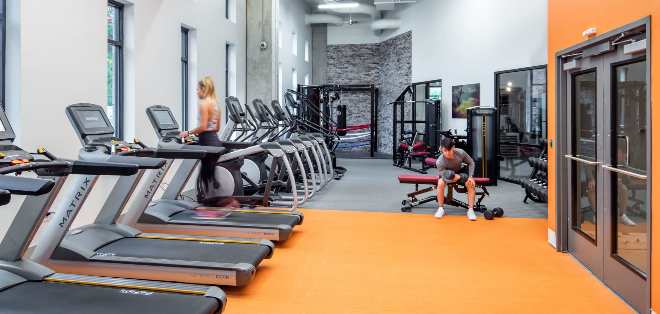 Fitness center for residents at UNCOMMON Fort Collins in Fort Collins, Colorado