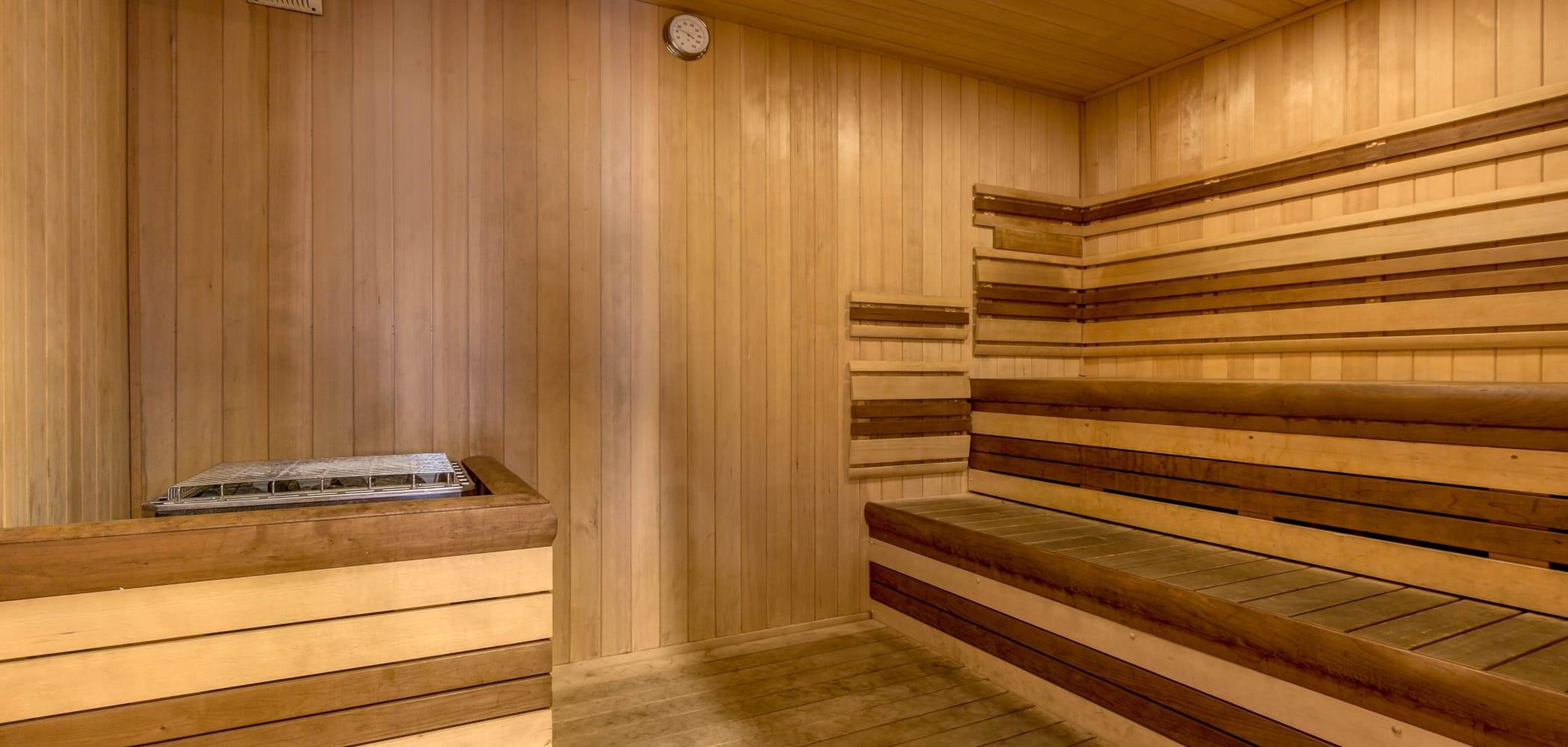 Sauna at HERE Champaign in Champaign, Illinois