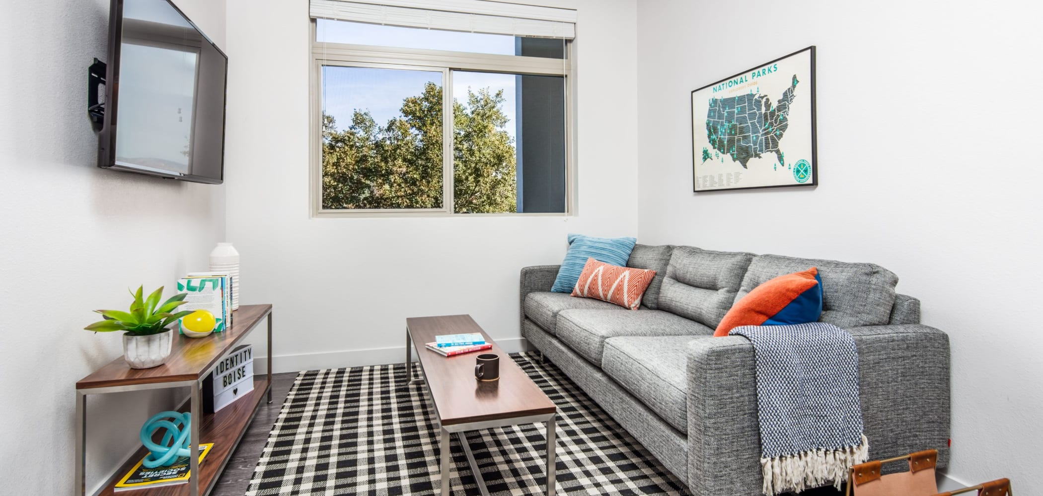 Bright living room at IDENTITY Boise in Boise, Idaho