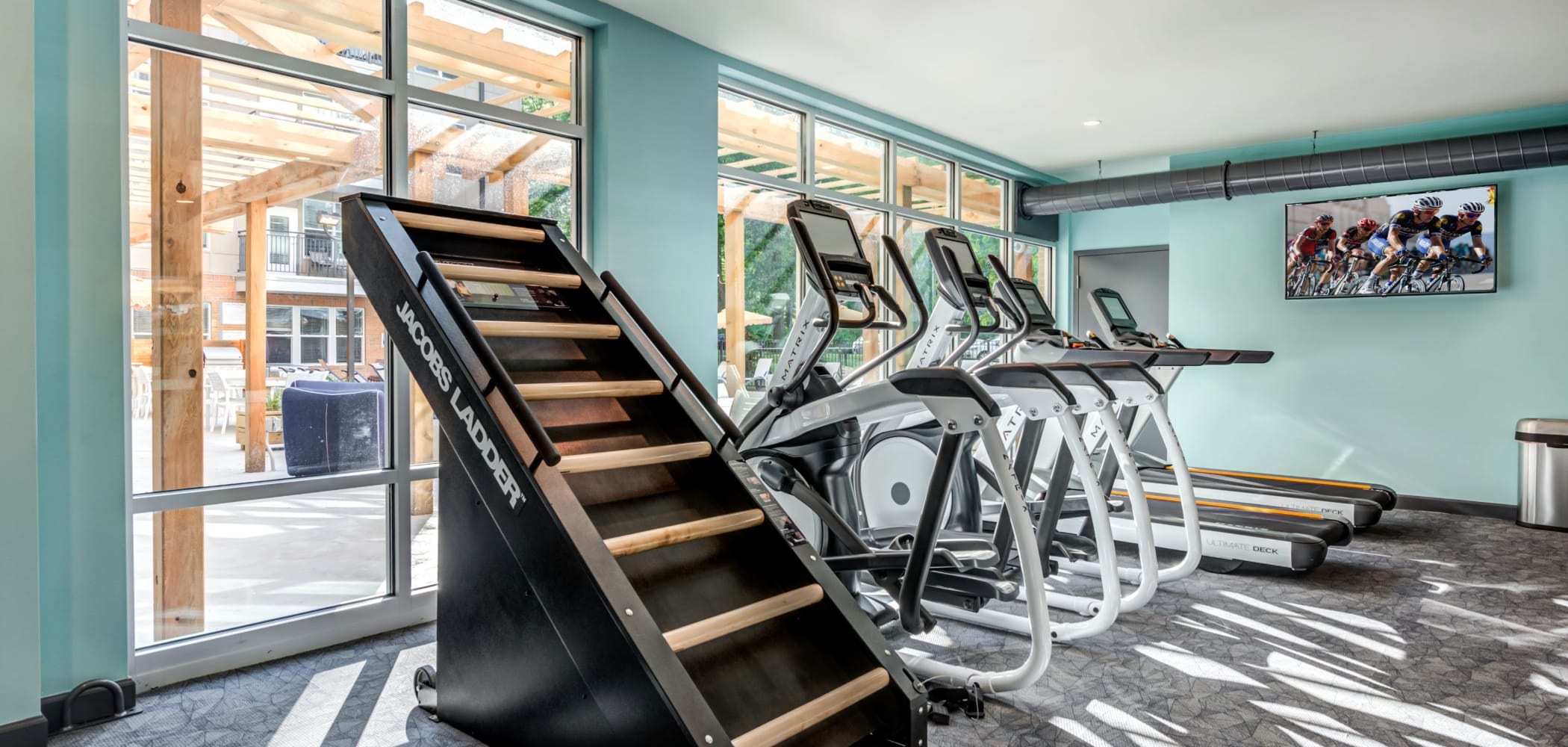 State-of-the-art fitness center at LATITUDE at Kent in Kent, Ohio
