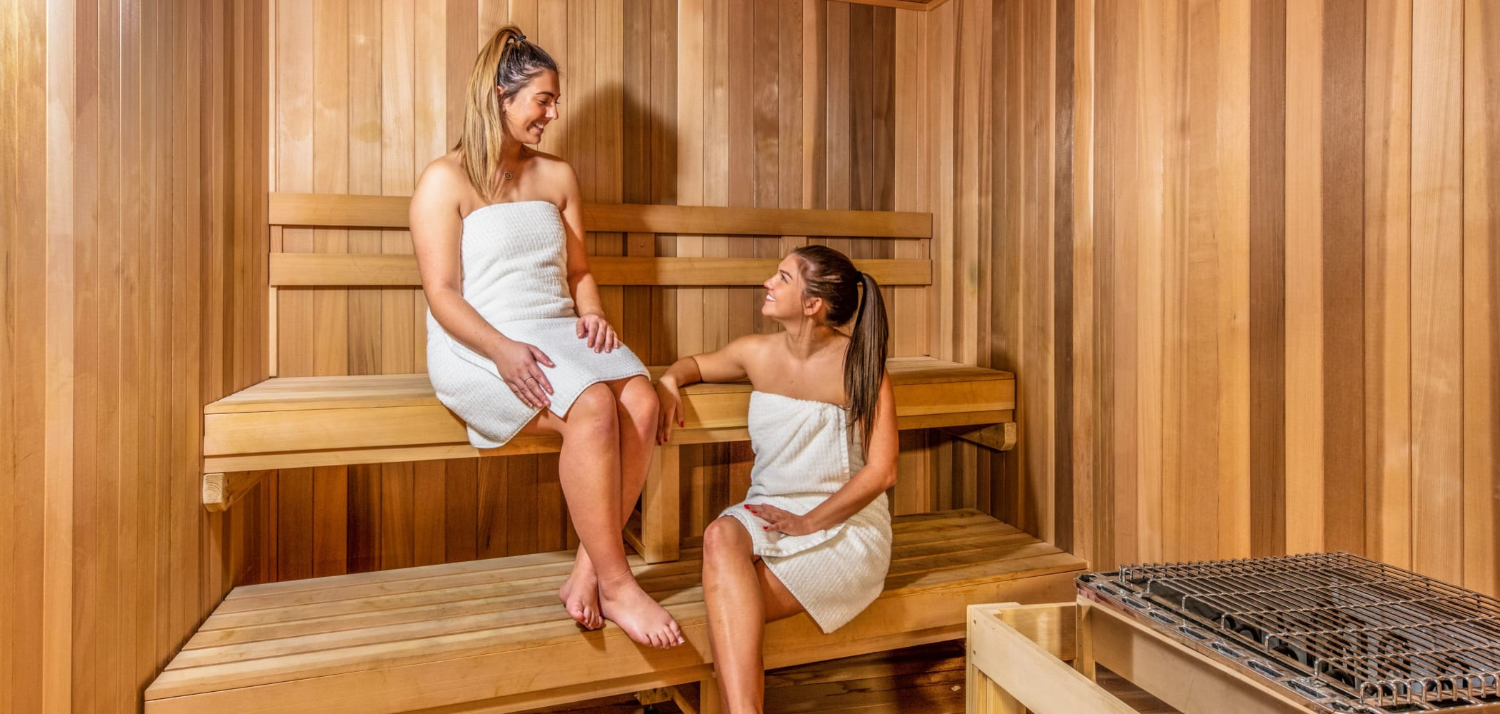 Sauna at RISE at Riverfront Crossings in Iowa City, Iowa