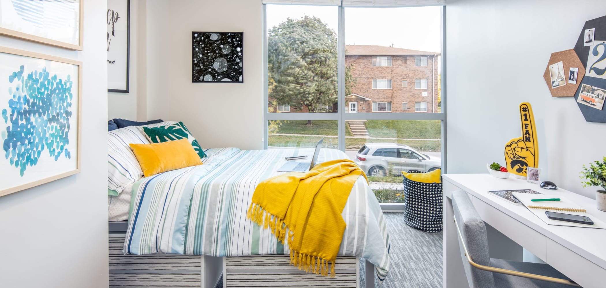 Spacious bedroom at RISE at Riverfront Crossings in Iowa City, Iowa