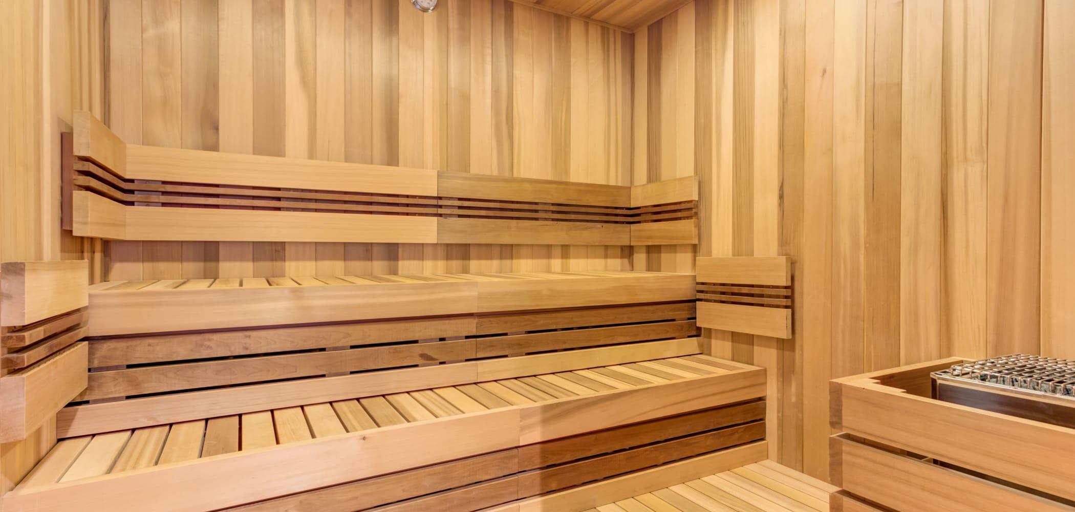 Sauna at The Link Evanston in Evanston, Illinois