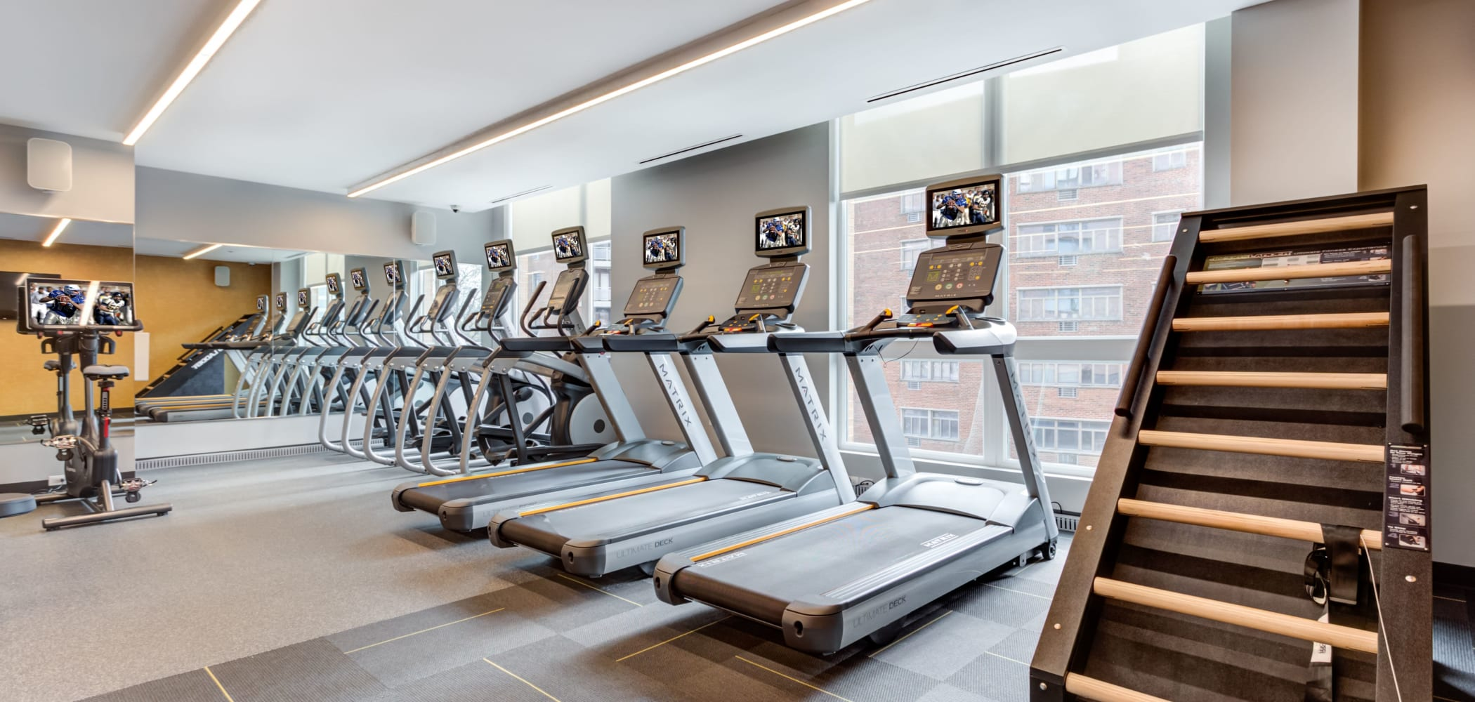 Fitness center for residents at The Link Evanston in Evanston, Illinois