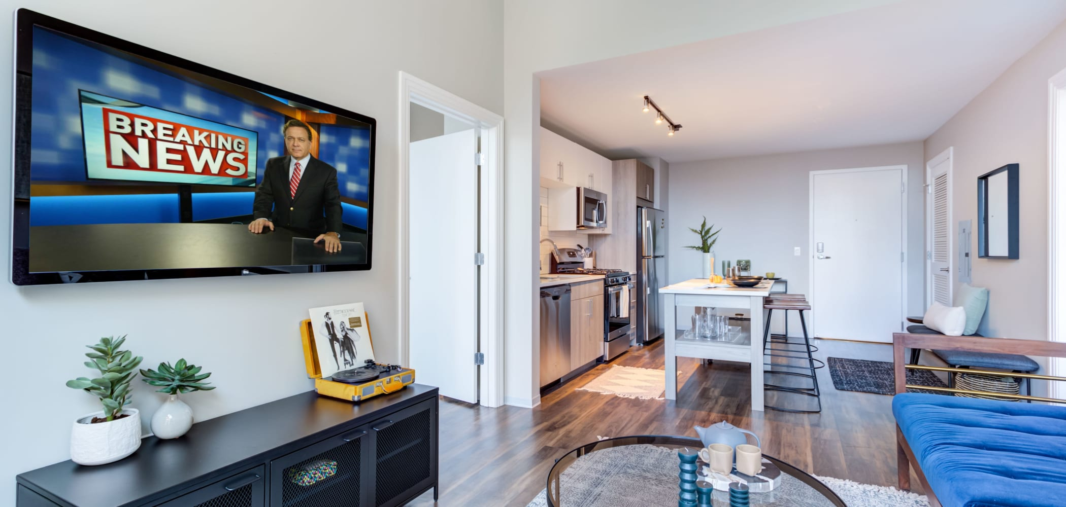 Open concept apartments at The Link Evanston in Evanston, Illinois