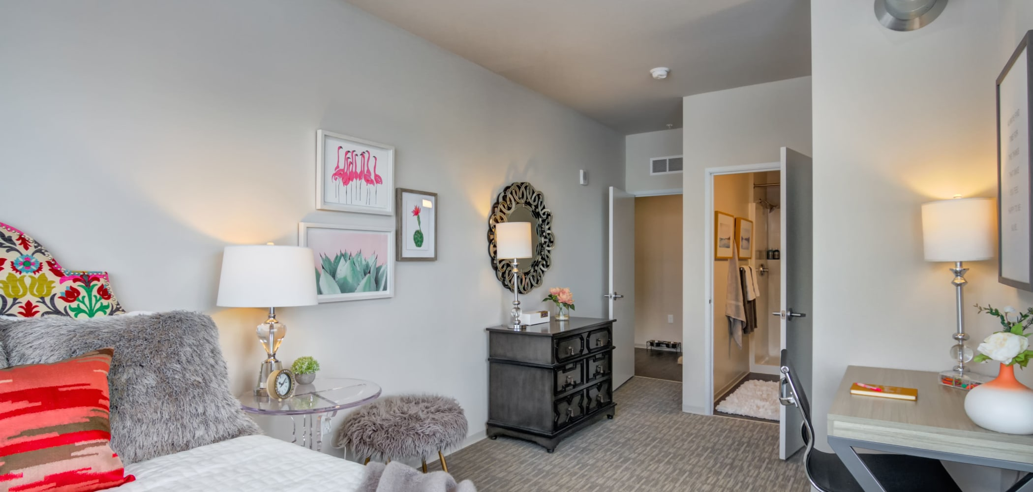 Expansive bedroom space at The Link Minneapolis in Minneapolis, Minnesota