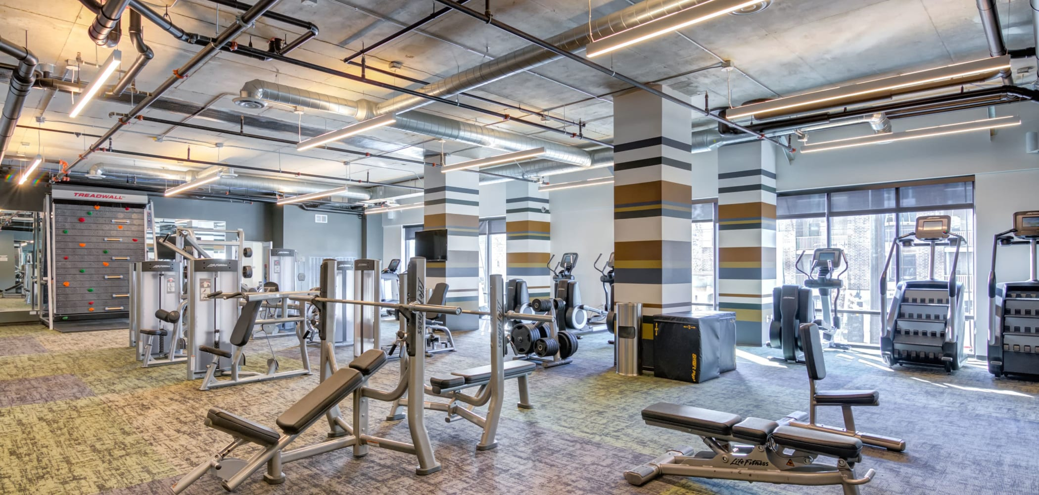 Fitness center for residents at The Link Minneapolis in Minneapolis, Minnesota