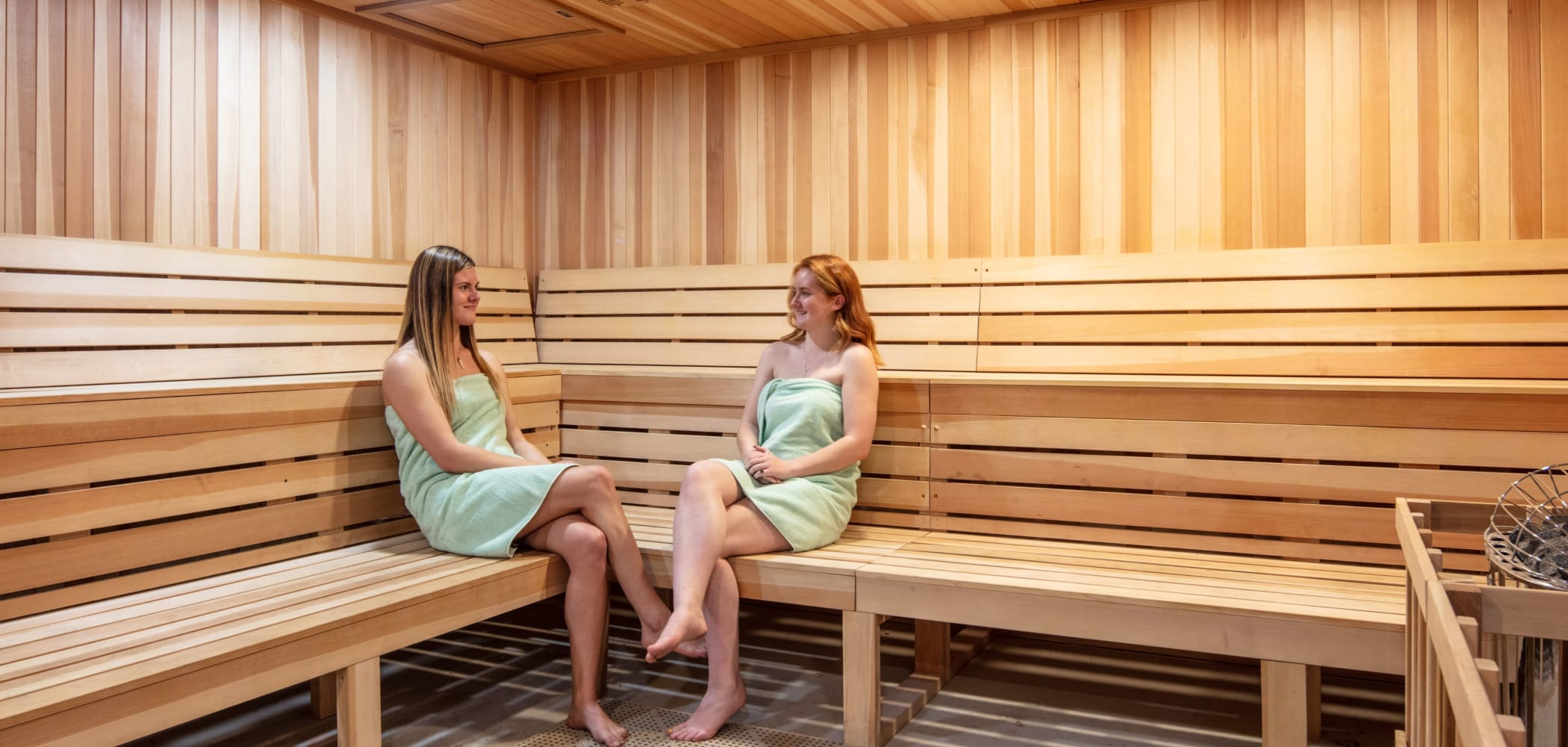 Sauna at evolve on Main in Pullman, Washington