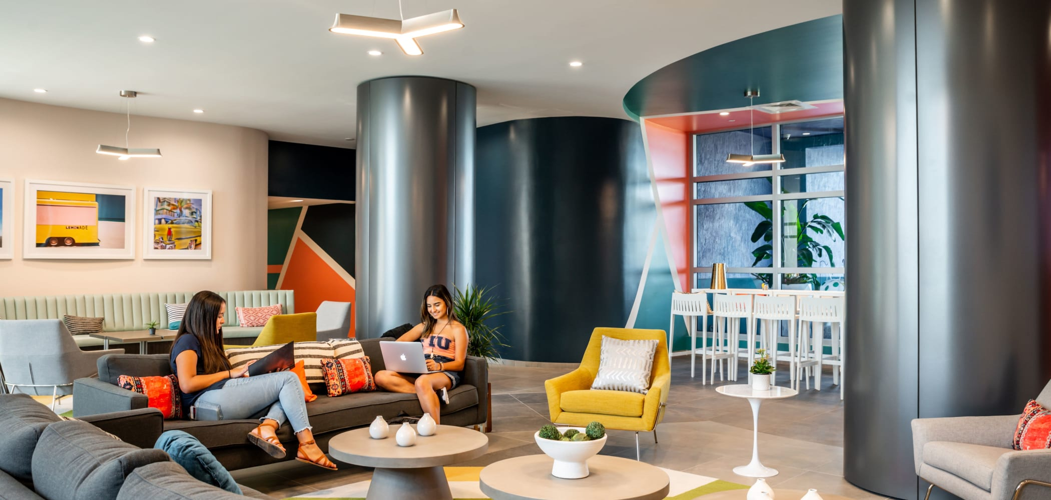 Clubroom with a comfy couch at IDENTITY Miami in Miami, Florida