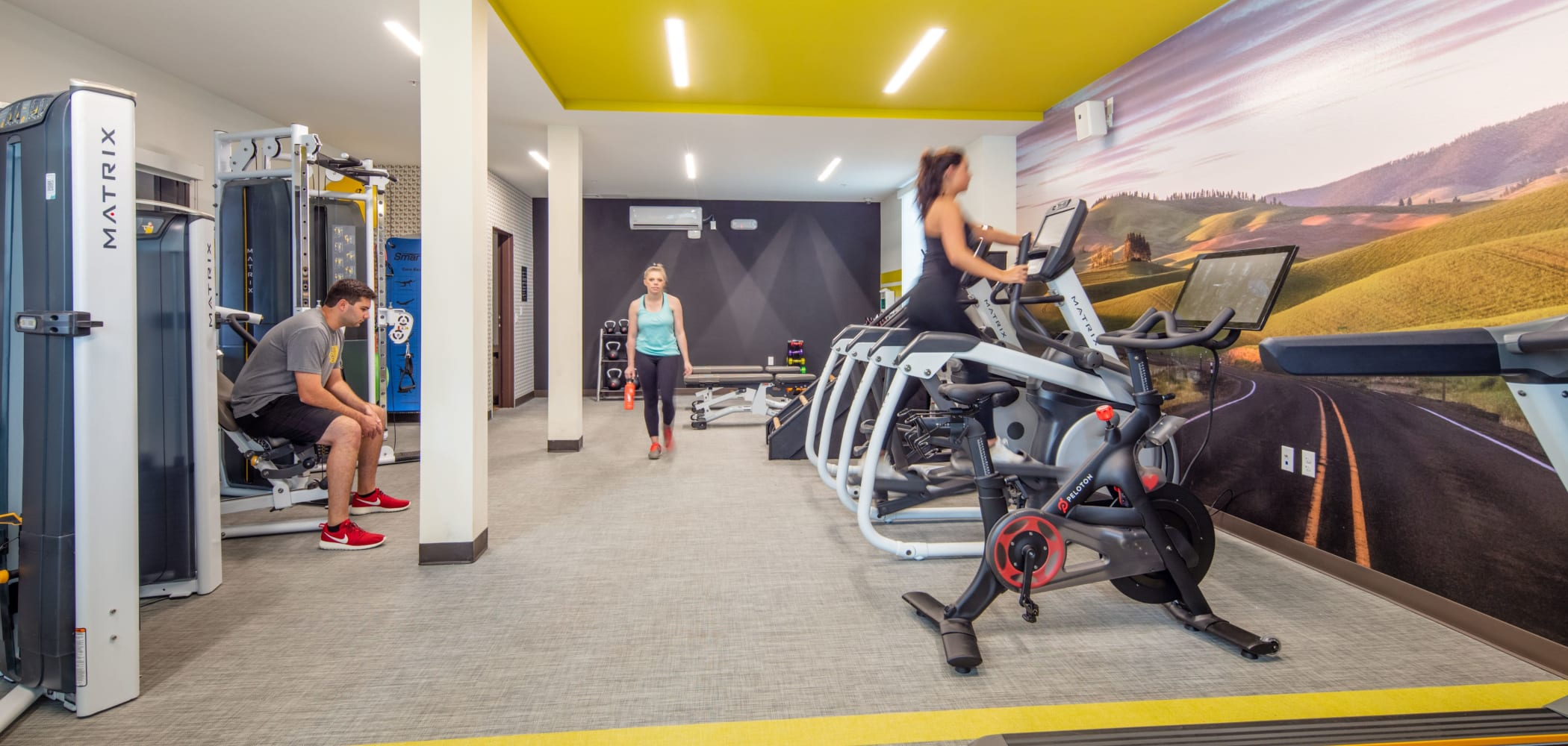 Fitness center for residents at IDENTITY Moscow in Moscow, Idaho