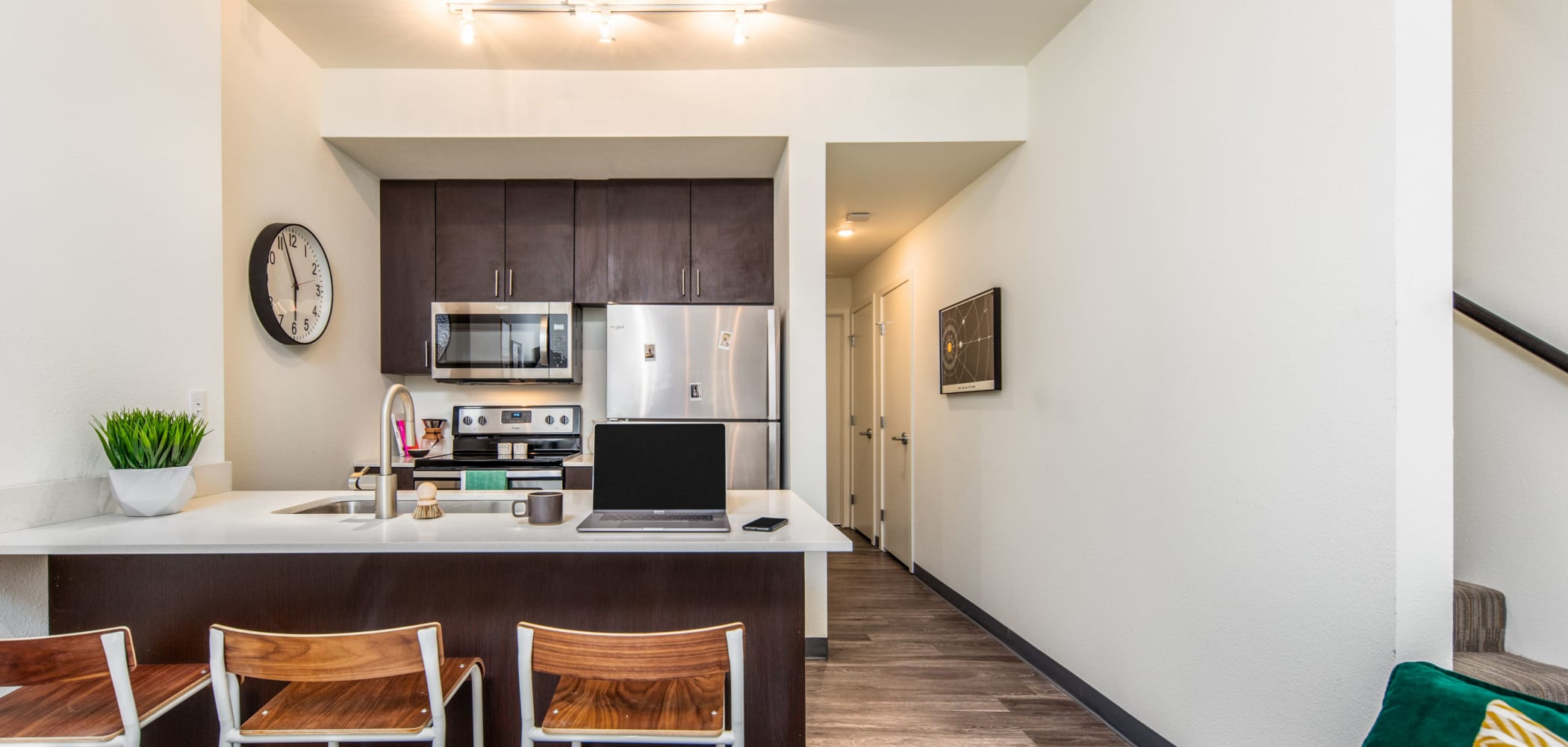 Bright, spacious kitchen at IDENTITY Moscow in Moscow, Idaho