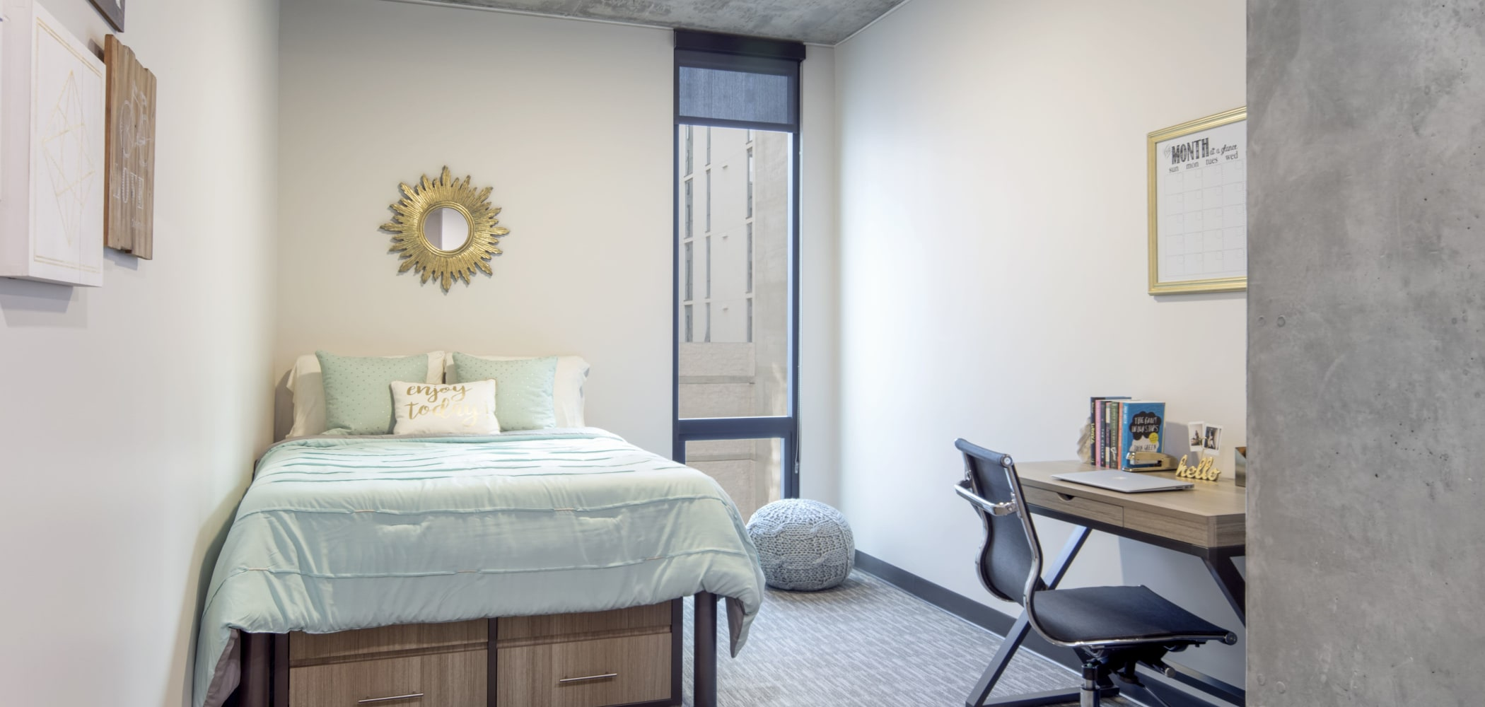 Spacious bedroom with space to study at RISE on Apache in Tempe, Arizona