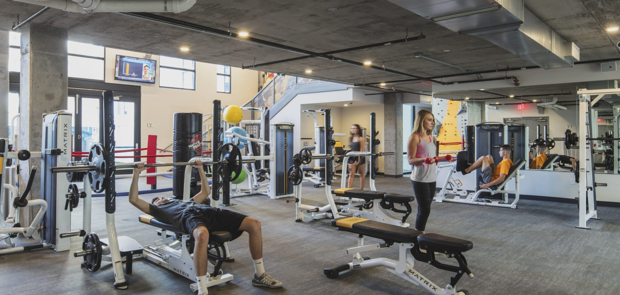 Fitness center at RISE on Apache in Tempe, Arizona