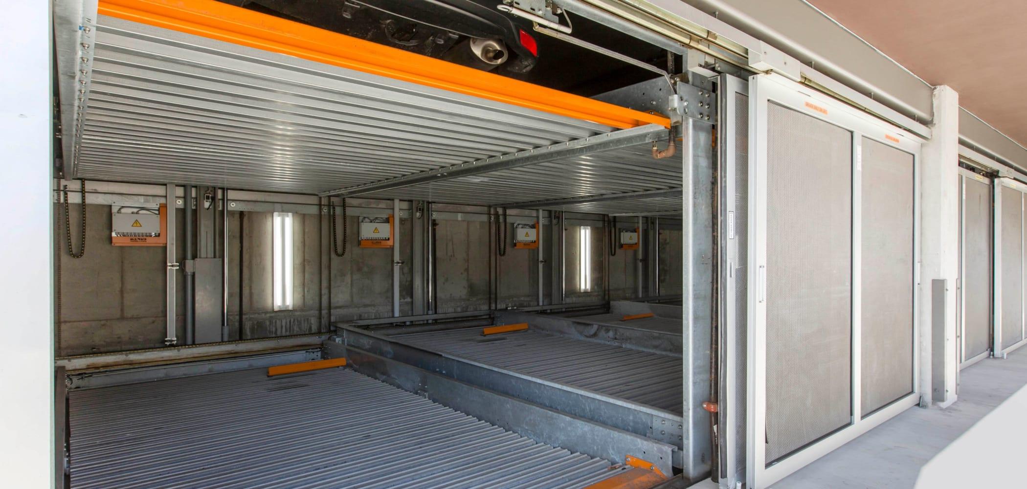Private garage at ICON in Isla Vista, California