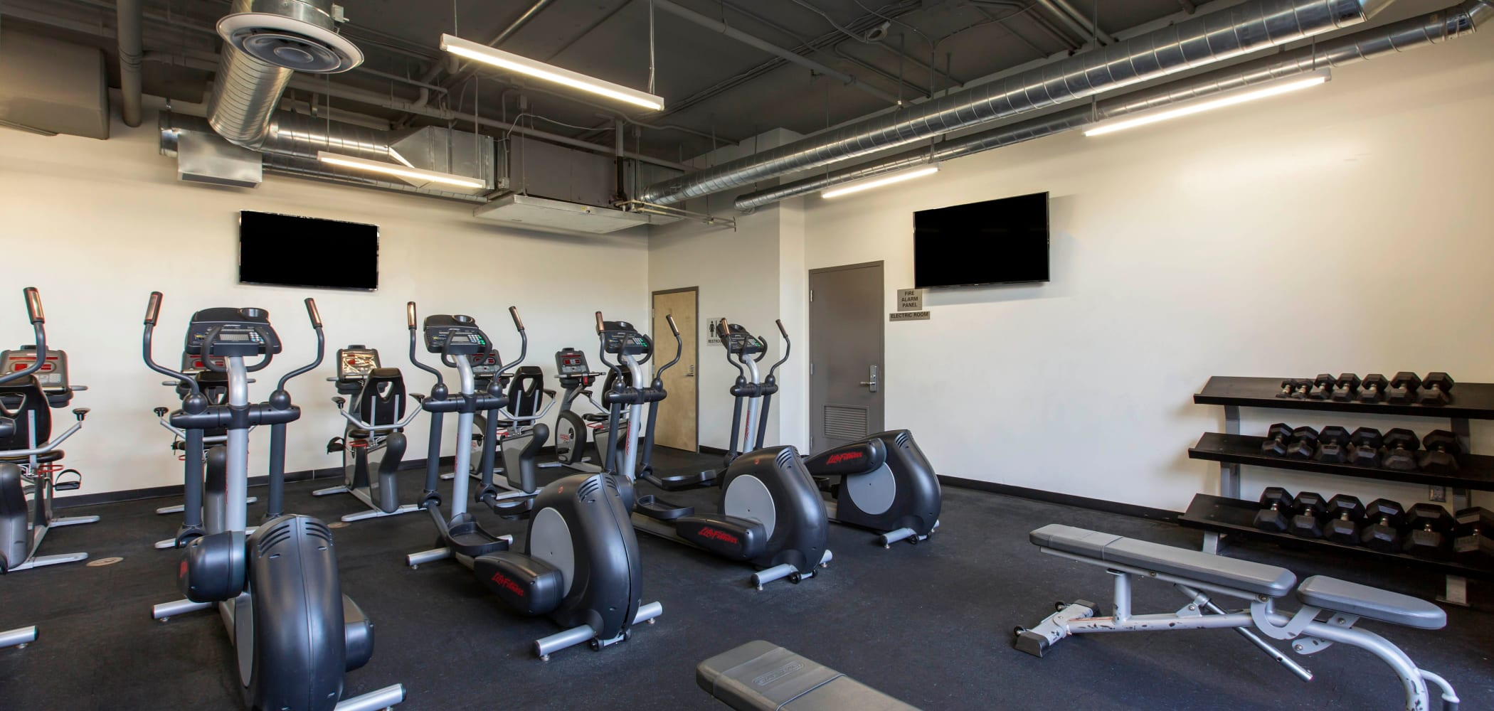 State-of-the-art fitness center at ICON in Isla Vista, California