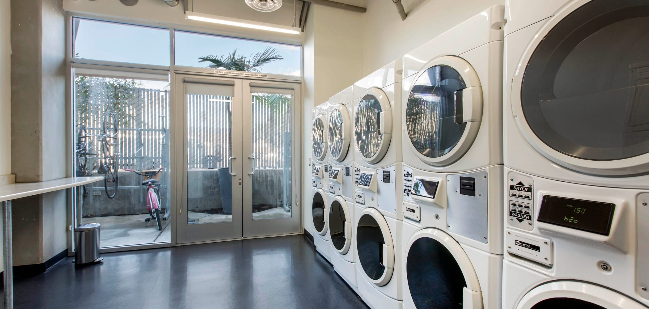 Onsite laundry facility at ICON in Isla Vista, California