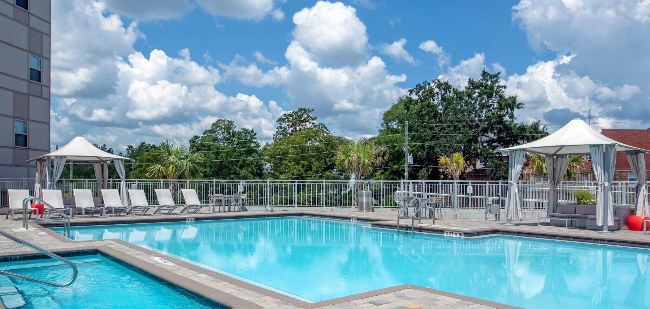 Sparkling swimming pool at Onyx in Tallahassee, Florida