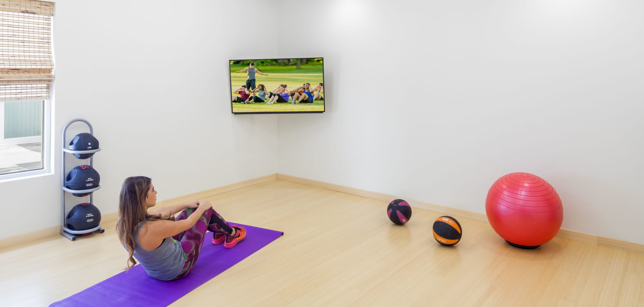 Yoga studio at Social 28 in Gainesville, Florida