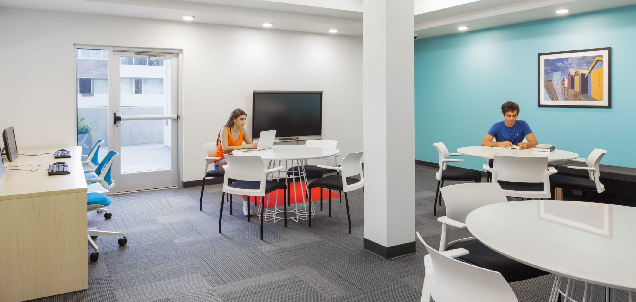 Study space at Social 28 in Gainesville, Florida