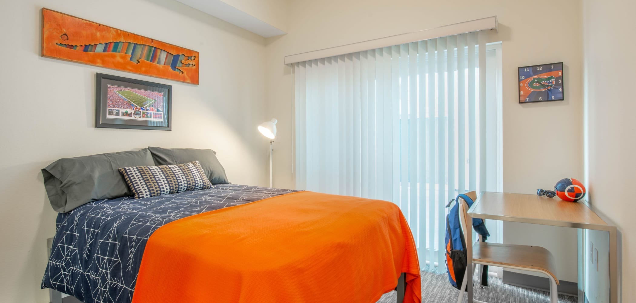 Cozy bedroom at Social 28 in Gainesville, Florida