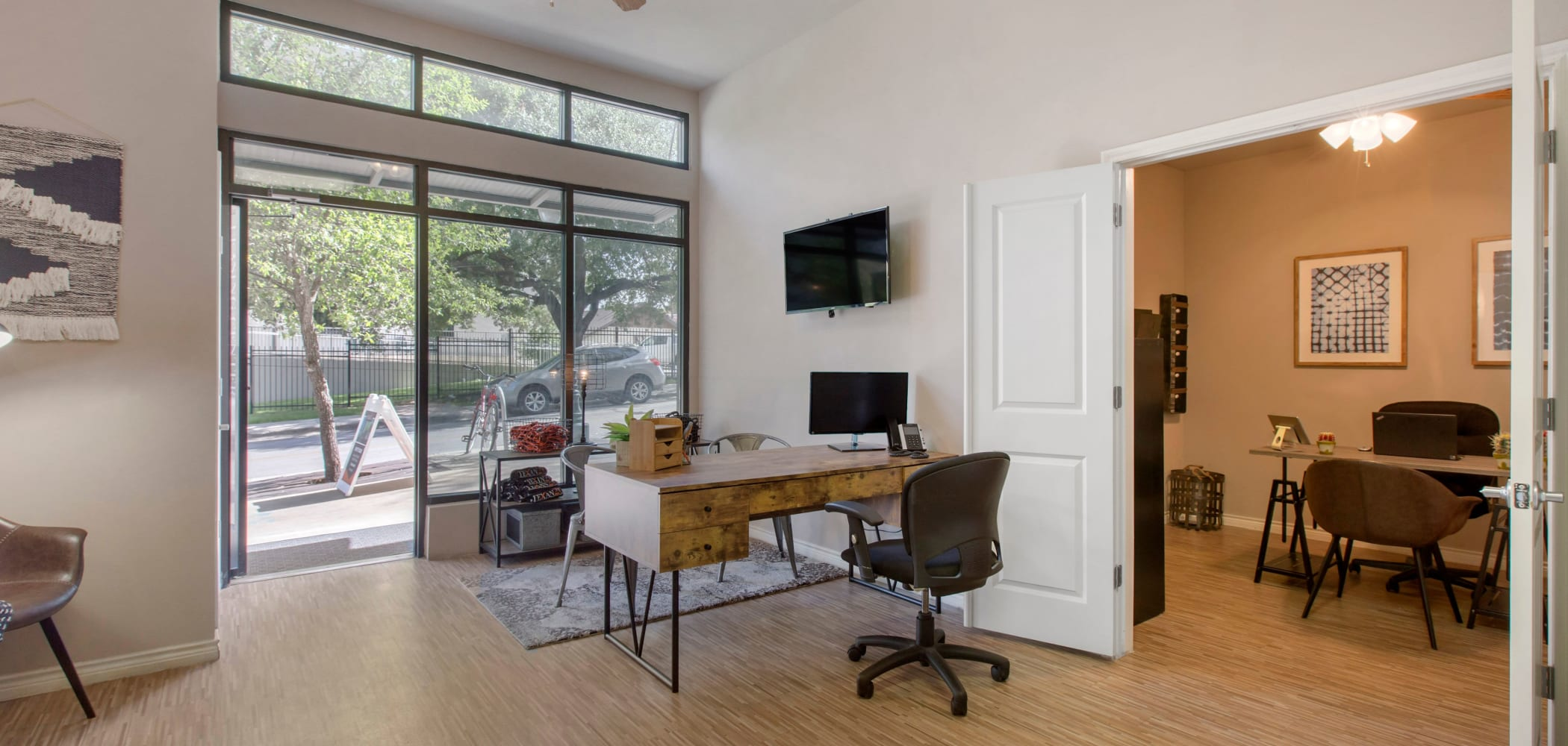 Leasing office at Texan 26 in Austin, Texas