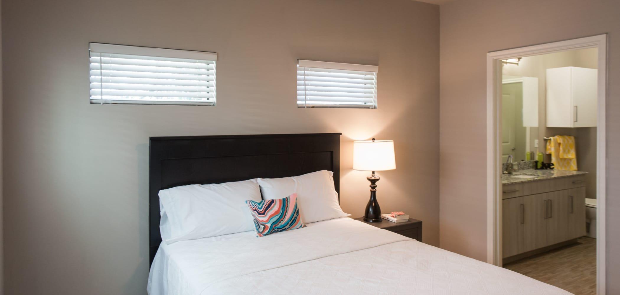 Cozy bedroom at Texan 26 in Austin, Texas