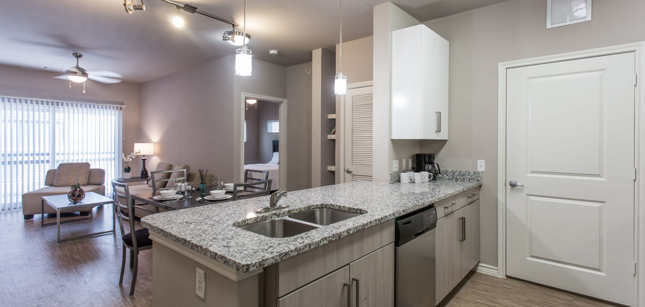 Fully equipped kitchen at Texan 26 in Austin, Texas