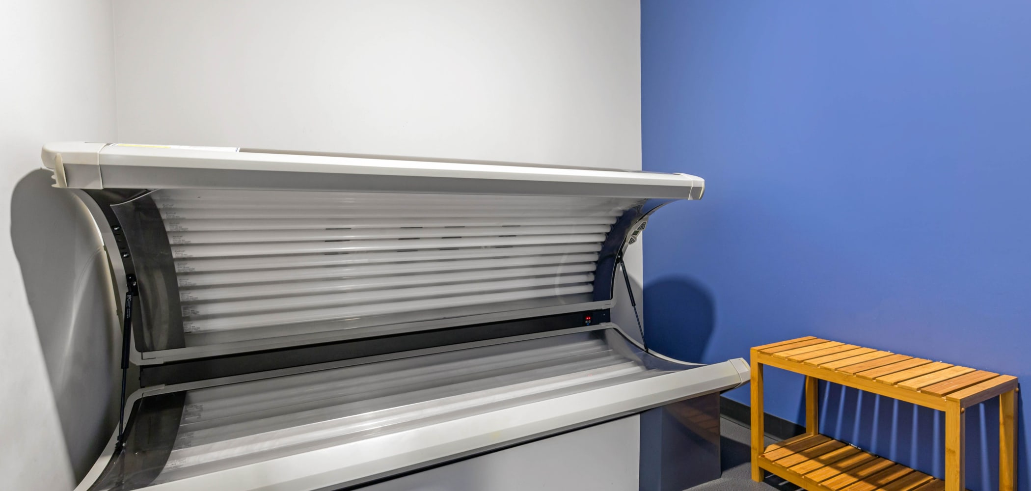 Tanning bed at West Quad in Champaign, Illinois