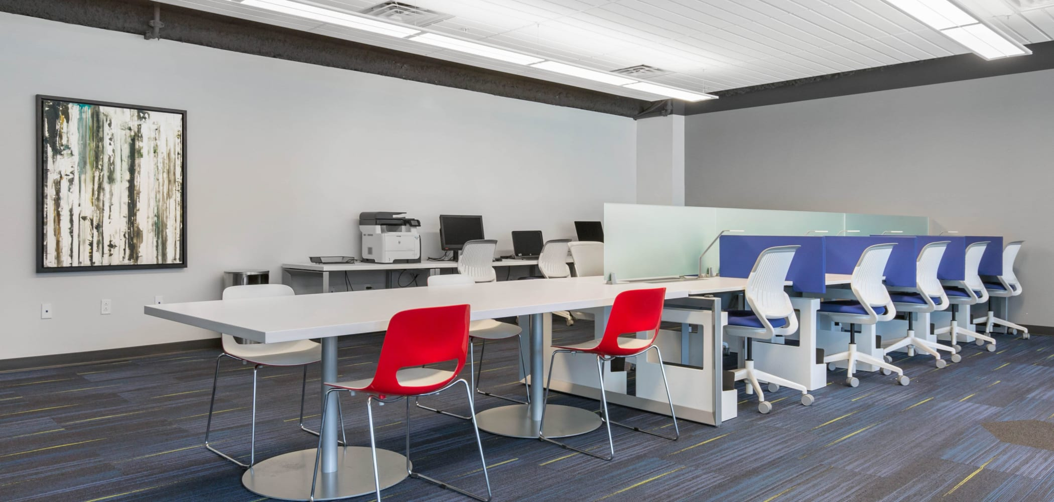 Group study room at West Quad in Champaign, Illinois