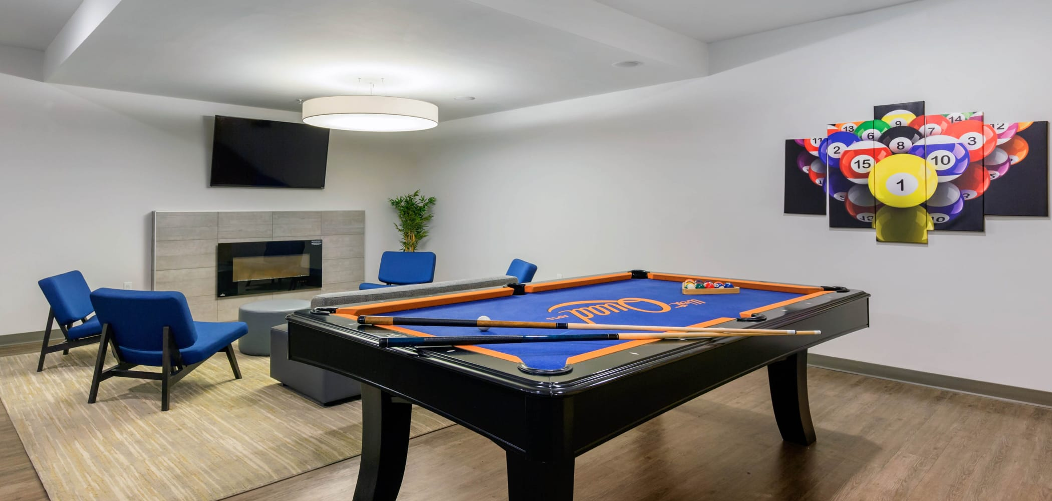 Game room at West Quad in Champaign, Illinois