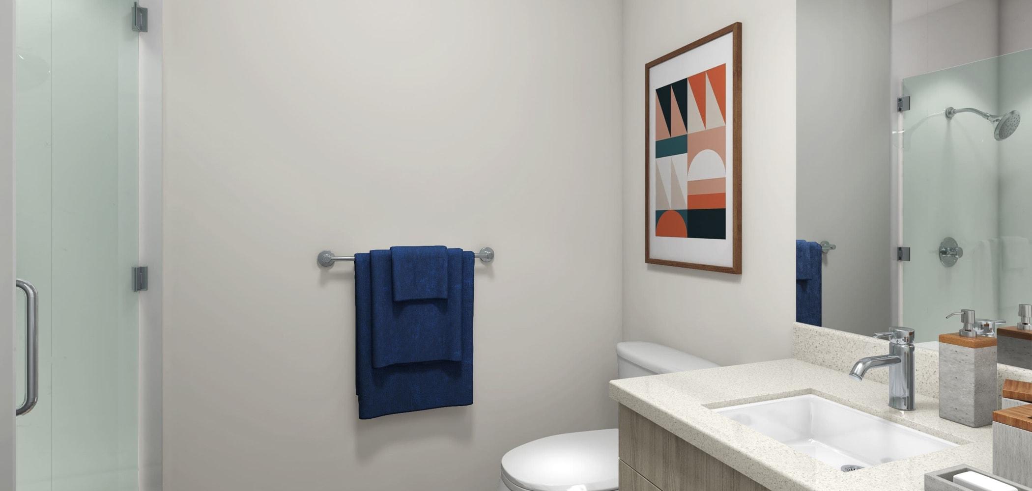 Clean bathroom at UNCOMMON Flagstaff in Flagstaff, Arizona