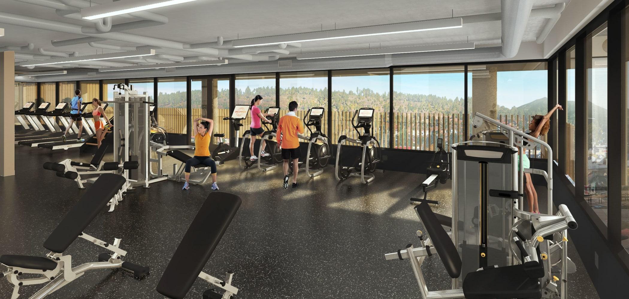 Fitness center at UNCOMMON Flagstaff in Flagstaff, Arizona