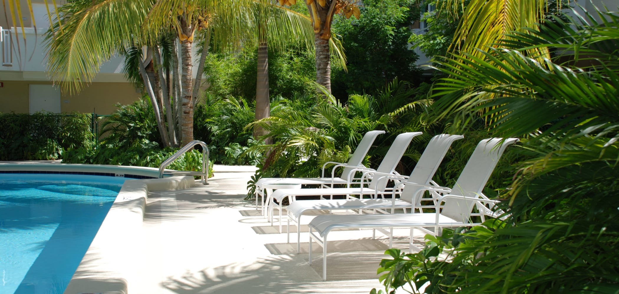 Poolside lounge at The Cloisters in Miami, Florida