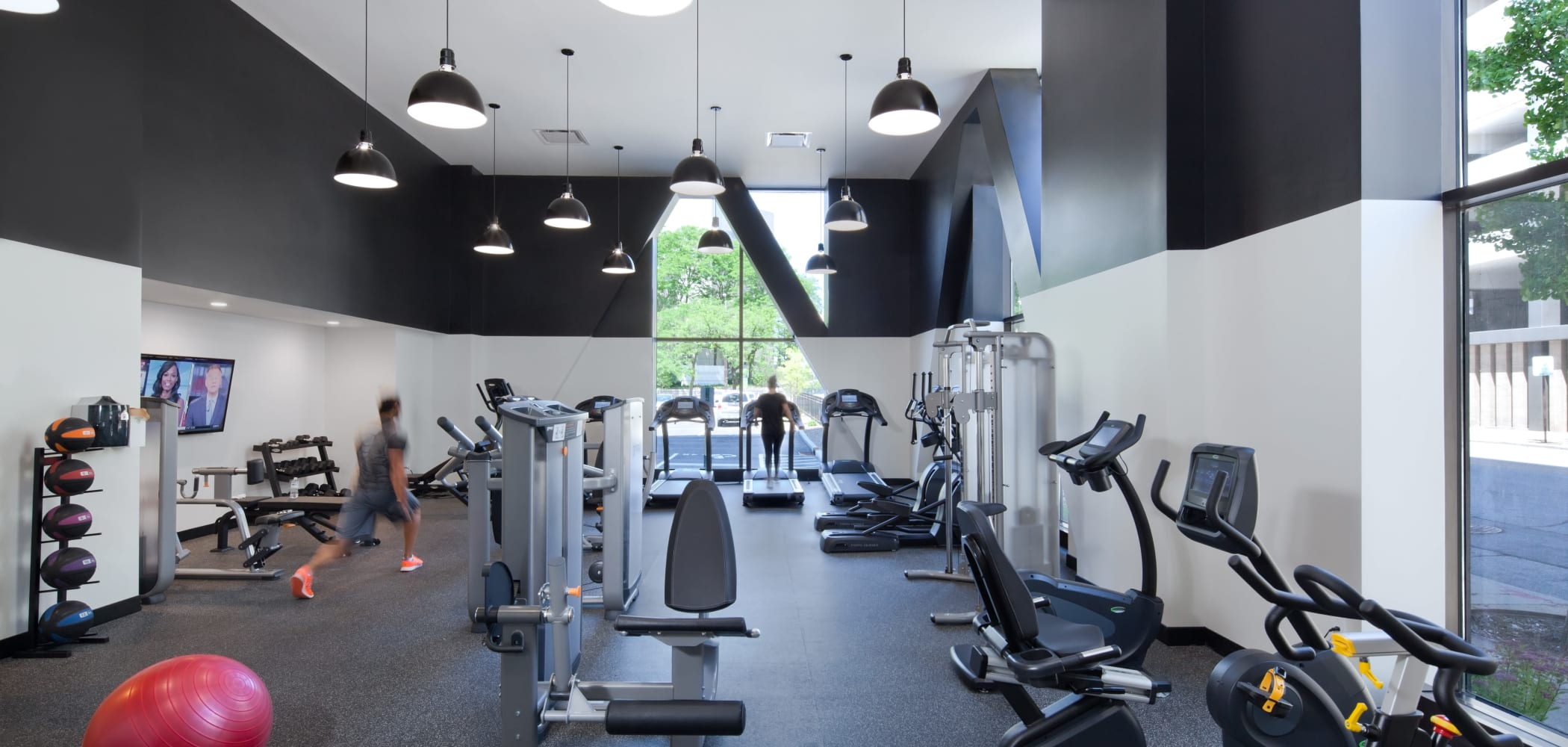 Fitness center at The Buckler in Milwaukee, Wisconsin