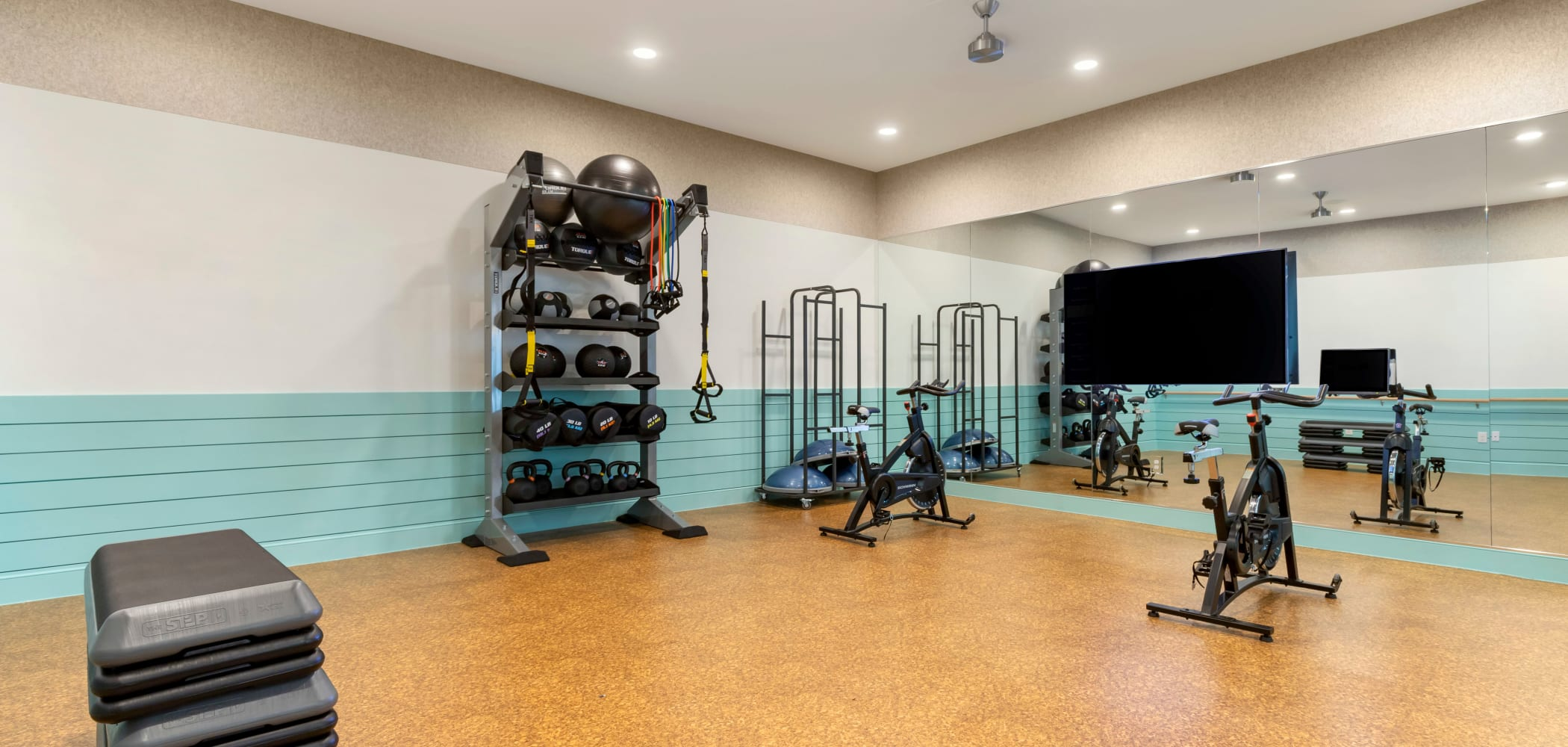 Exercise room at UNCOMMON Wilmington in Wilmington, North Carolina