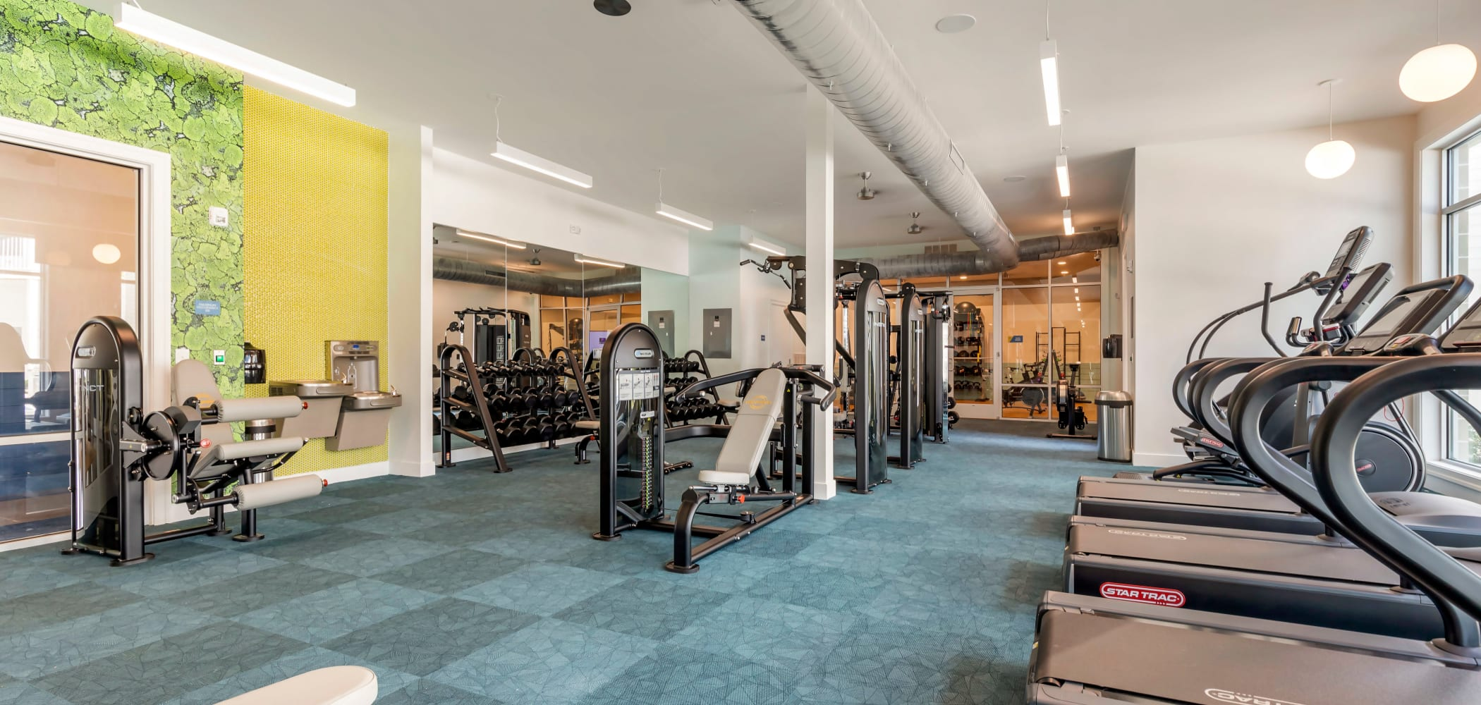 Fitness center at UNCOMMON Wilmington in Wilmington, North Carolina