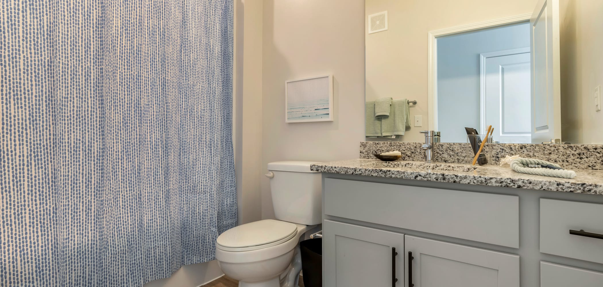 Spacious bathroom at UNCOMMON Wilmington in Wilmington, North Carolina