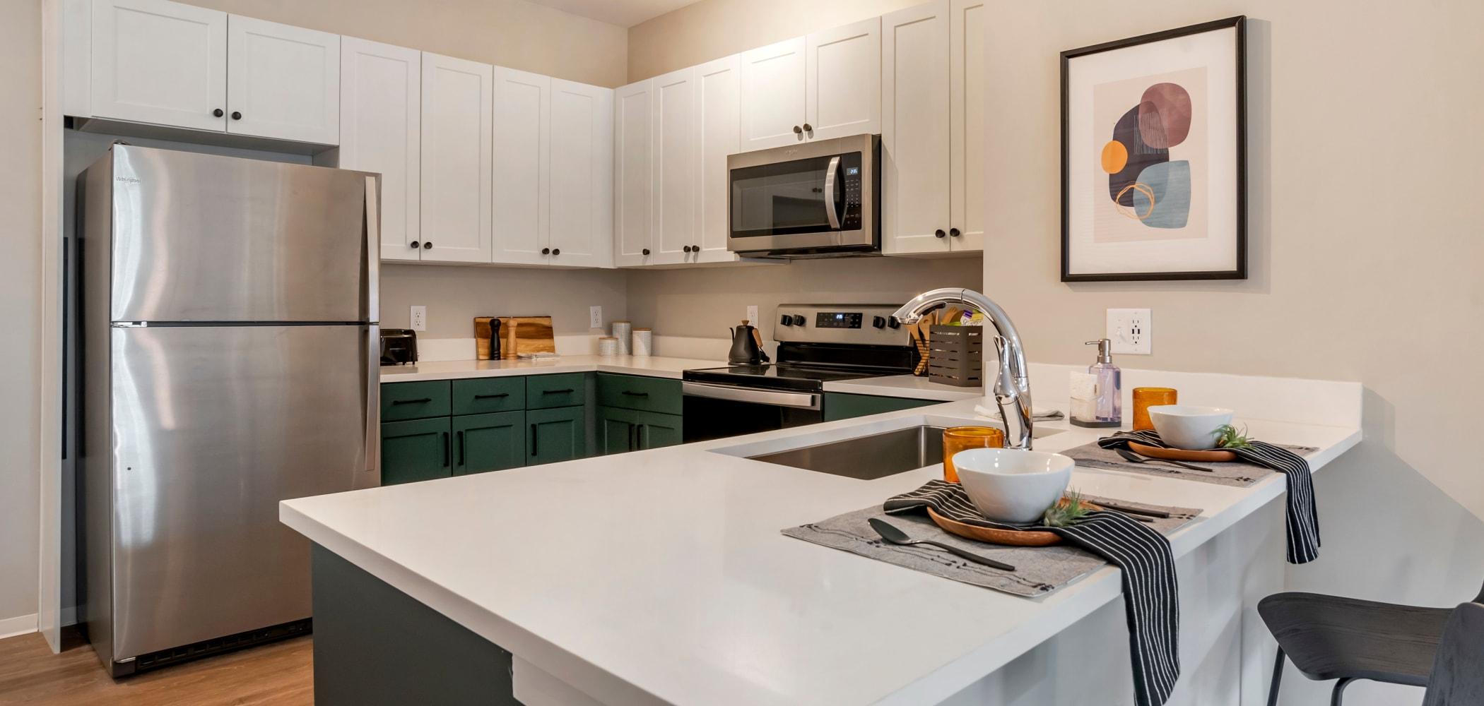 Spacious kitchen at UNCOMMON Auburn in Auburn, Alabama